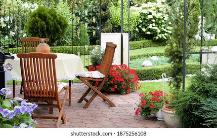 beautiful garden with varios plants and flowers
