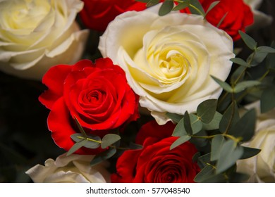 Beautiful gift bouquet for a birthday consisting of different flower.
