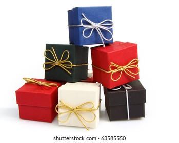 Beautiful gift box on white