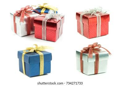 Beautiful gift box on white background.