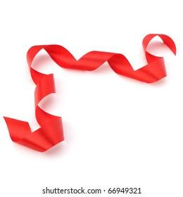 Beautiful gift ribbon isolated on white background