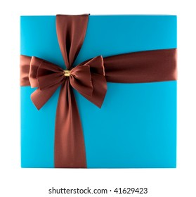 Beautiful giftbox isolated on white