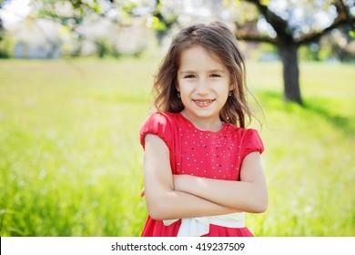beautiful girl of 7 years