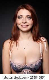 The beautiful girl with big breast