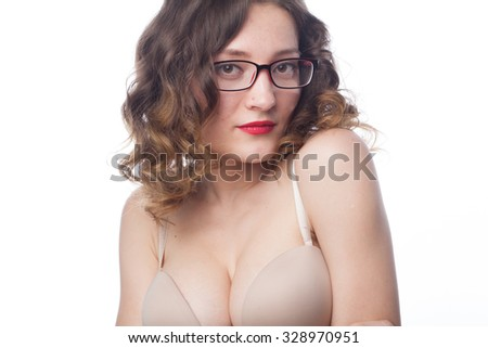 Beautiful Girl With Big Tits And Glasses