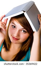 beautiful girl with book