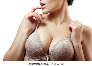 beautiful girl in bra