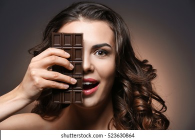 Girl Chocolate Images Stock Photos Vectors Shutterstock