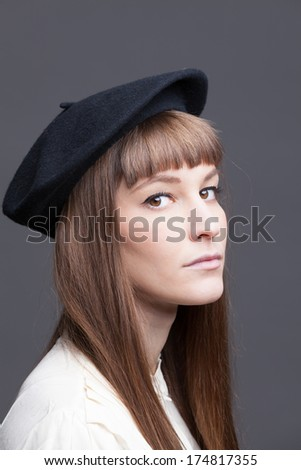 72bd4458e8e07 Beautiful Girl Classic 60 S French Look Stock Photo (Edit Now ...