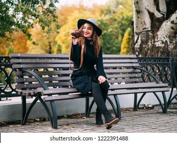 beautiful girl in a coat