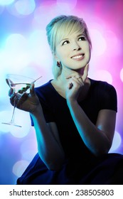 beautiful girl with cocktail