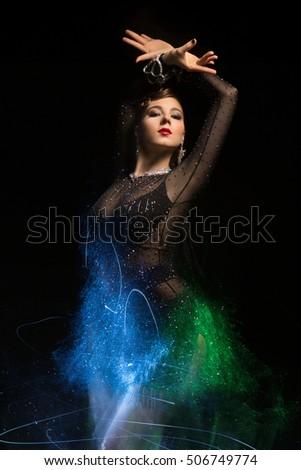 89fce2278d12b Beautiful Girl Dancing Ballroom Dancing Stock Photo (Edit Now ...