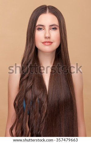 Beautiful Girl Experimenting Her Long Hair Stock Photo Edit Now