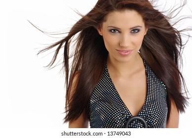 Beautiful  girl. Fashion and makeup