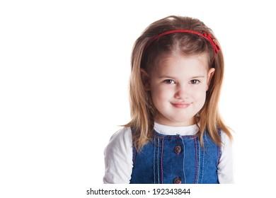 Beautiful girl fashion portrait. Child model