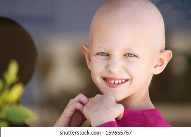 beautiful girl fighting cancer