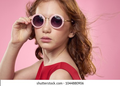 d0912b1f962a Surprised Woman Sunglasses On Pink Background Stock Photo (Edit Now ...