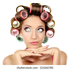 Naked girl in curlers opinion you