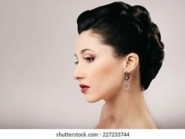 beautiful Girl. hairstyle