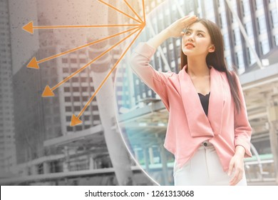Beautiful girl happy with UV sun rays and city pollution protection skin care concept.