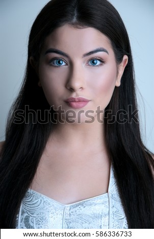 black hair blue eyes