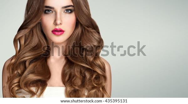 Long hair blonde curly sensual