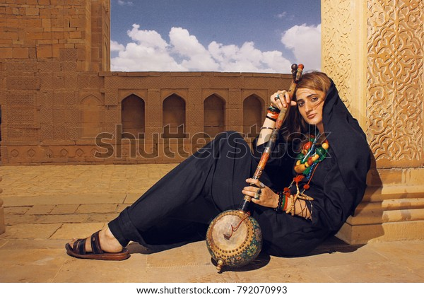 Beautiful Girl Malang Musical Instrument On Stock Photo Edit Now 792070993
