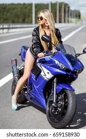 On bike girl sexy 17 Biker