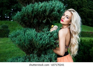 Beautiful girl on the nature