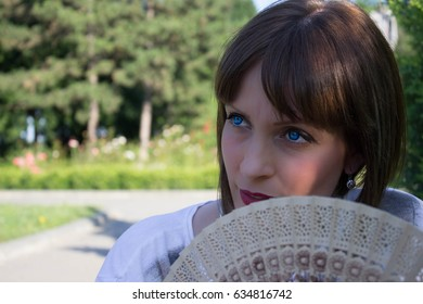 The beautiful girl in park