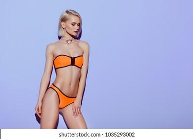 f0da80f2f96 Orange Bikini Images, Stock Photos & Vectors   Shutterstock