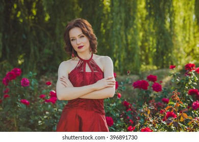 Girl with red bush