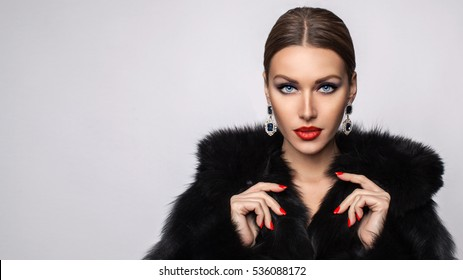 59b1c73405dd0 Fur Coat Images, Stock Photos & Vectors | Shutterstock