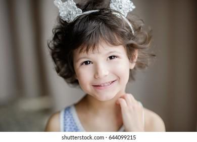 Beautiful girl in the room