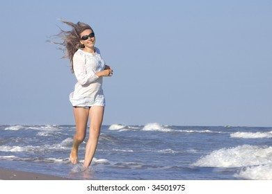 beautiful girl at the sea