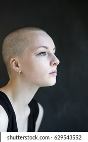 Girl head shaved