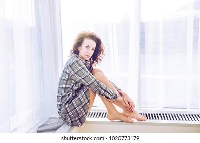 A beautiful girl in shirt