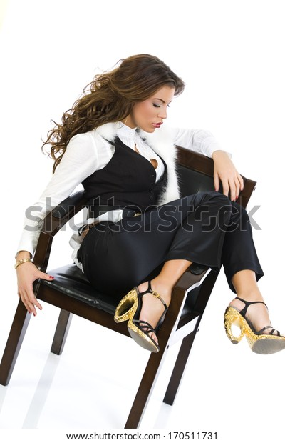 Beautiful girl sitting in the chair