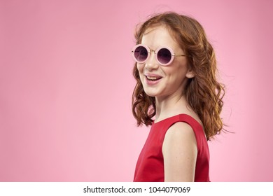 beautiful girl, smile, glasses