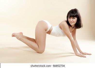 beautiful girl in underwear