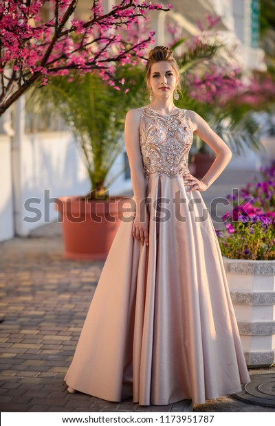 Beautiful Girl Wedding Dress Outdoor Young Stock Photo Edit Now 1173951787,Summer Cocktail Dresses For Weddings Plus Size