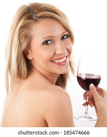 Beautiful girl with wine glass