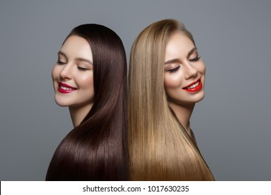 beautiful girls with healthy hair
