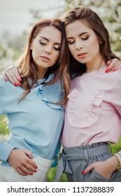 Beautiful girls on a picnic