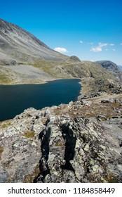beautiful Gjende lake, Besseggen ridge, Jotunheimen National Park, Norway