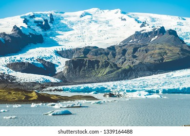 A beautiful glacier somewhere in breathtaking Iceland