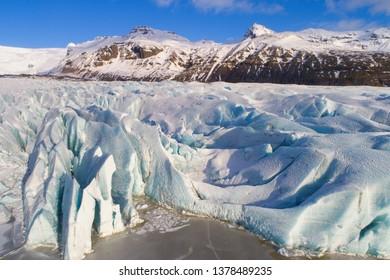 Beautiful glacier in winter, Iceland