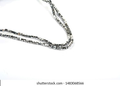 Beautiful Glass Sparkle Crystal Isoalted Beads on white background