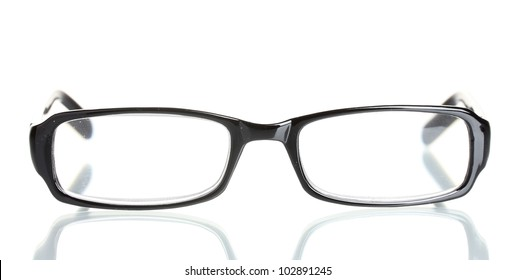 beautiful glasses isolated on white