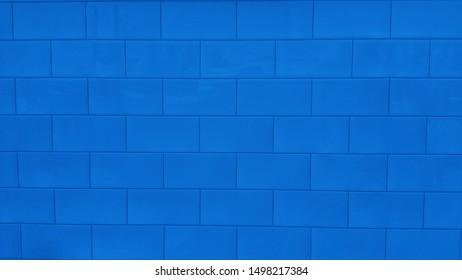 Beautiful glossy blue tile surface